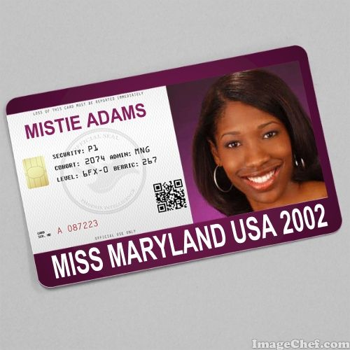 Mistie Adams Miss Maryland USA 2002 card