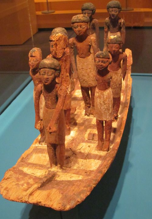 Model of a Funeral Boat ca 2030-1640 BCE. Egypt. Middle Kingdom. Photo courtesy to rocor Located at the Iris & B. Gerald Cantor Center for Visual Arts, Stanford, California
