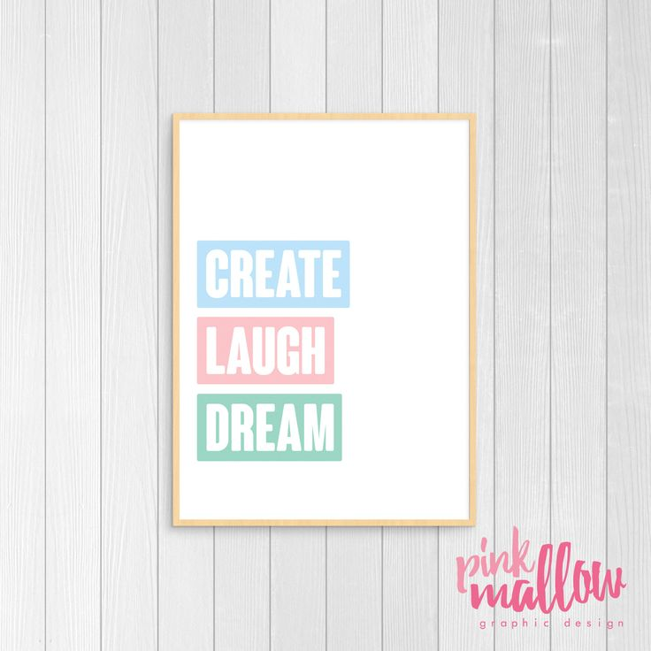 Inspire your little one to live a beautiful and colourful life! This print is perfect for a play room or their nursery / toddler room.This print can be purchased as is shown or personalised wit...