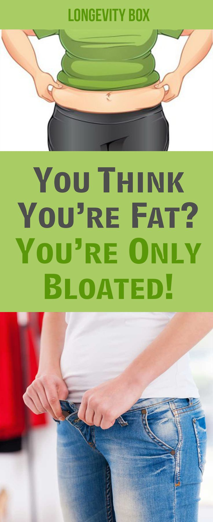 You Think You're Fat! NO, Your Belly Is Bloated And This Is How To Get Rid Of It!
