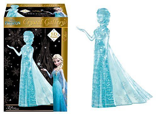 New! 39 pieces Crystal Gallery Elsa Anna and the Snow Queen Disney Japan F/S #Disney
