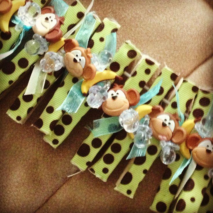 Monkey Baby Shower Guest Pins