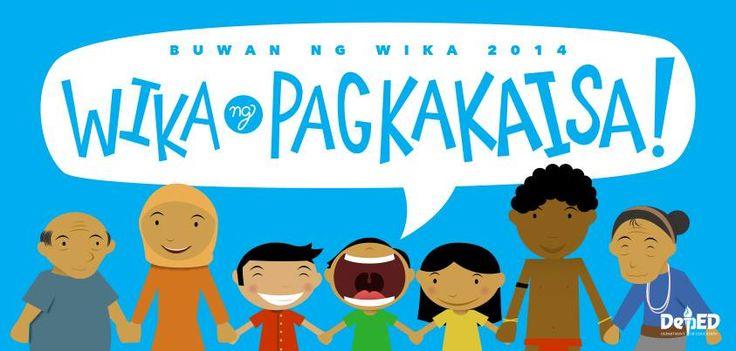 wika at pagkakaisa Pagkakaisa maraming sinulid na mumunti mahihina kapag nag-iisa, nguni't'matapos mahabi naging pinakamahusay na bandila marami ring mga tao.