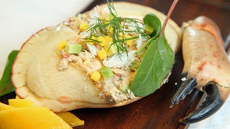 Enkel krabbesalat med avokado og mango