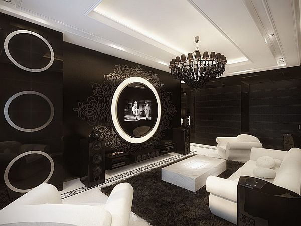 Delightful The Uniqueness Of A Black And White Modern Baroque Apartment Good Ideas