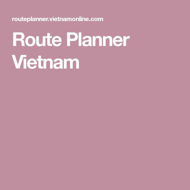 Route Planner Vietnam