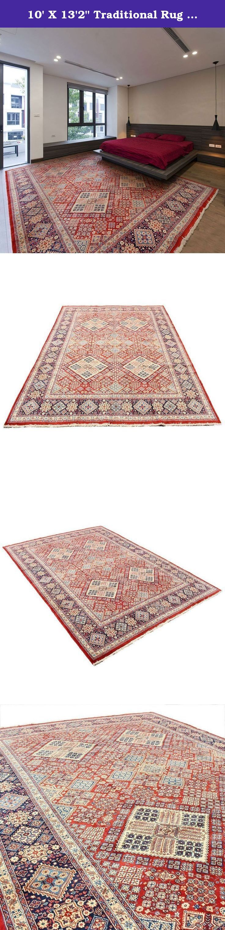 """10' X 13'2"""" Traditional Rug from 1800s , Very Unique Very Antique Rug Made of Merino Wool , Excellent Condition, Code:R0101318, Vintage Floor Rug, Oriental Area Rug, Traditional Fancy Carpet. Traditional designed hand woven rug which comes from pure lamb wool sheared at the Beginning of spring and a mixture of organic colors. It would make your place more attractive with its wonderful color. Really traditional and Classic design. As an advantages of years of being in this business our…"""