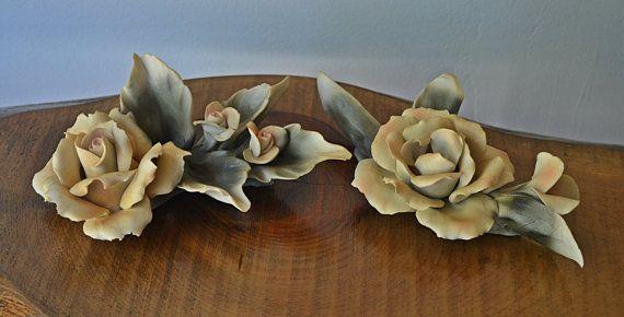 Capodimonte Roses Art Pottery Arnart 1987 by Collectitorium