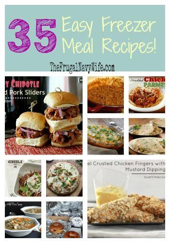 35 Easy Freezer Meal Recipes