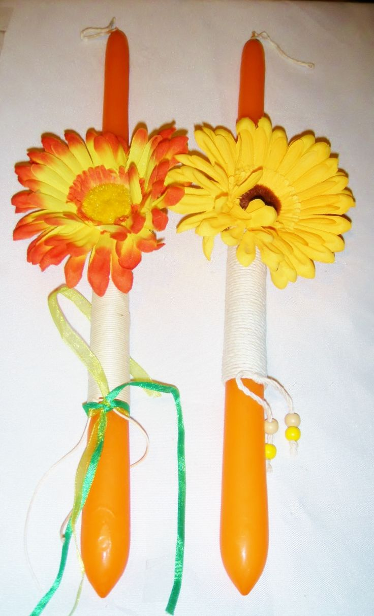 sunflower easter candle