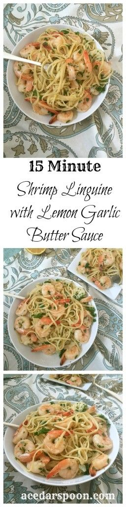 15 Minute Shrimp Linguine With Lemon Garlic Butter Sauce