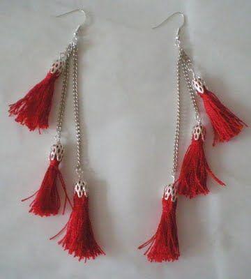 Tassel earrings #diy