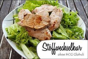 Kopfsalat mit Fleisch - Stoffwechselkur ohne HCG Globuli