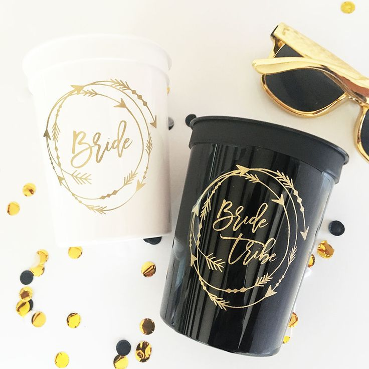 Check out the deal on Bride Tribe Cups (Set of 10) at Wedding Favorites | Unique Wedding Favors | Baby Shower Favors | Bridal Shower Favors