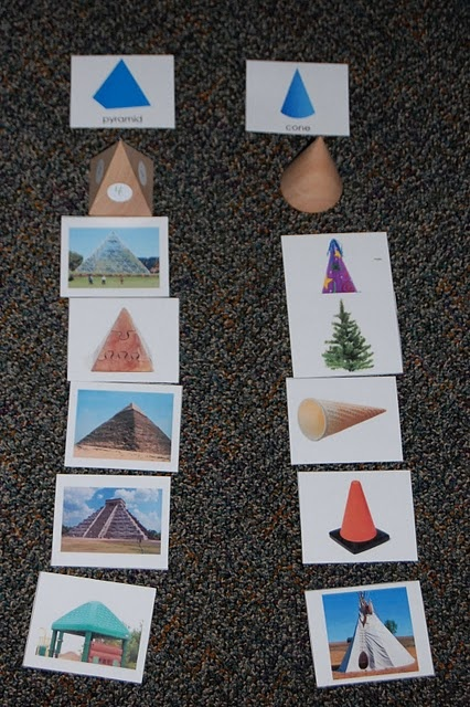 Would be great to make a set of these 3 D shapes for a center! Or you can buy on this site for $5.