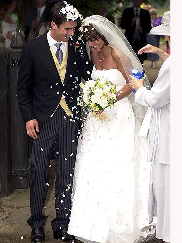 TV presenter and fitness supremo, Davina McCall married her TV producer husband, Matthew Robertson in Herfordshire. And look how happy they are as they were being showered with confetti - cute. Mega cute.   - Cosmopolitan.co.uk