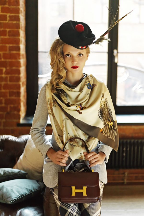 My first Hermes scarf photo shoot
