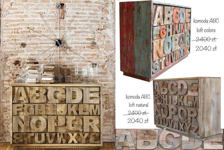 kolonialna komoda z litego drewna do pokój dzieciące lub do gabinetu już jest dostępna na dwa kolora na naszym sklepie Karina Meble Indyjskie. Zobacz także http://karinameble.pl/pl/p/komoda-ABC-Loft-LDC-16/2979 http://karinameble.pl/pl/p/komoda-ABC-Loft-Natural-LDC-16/4022