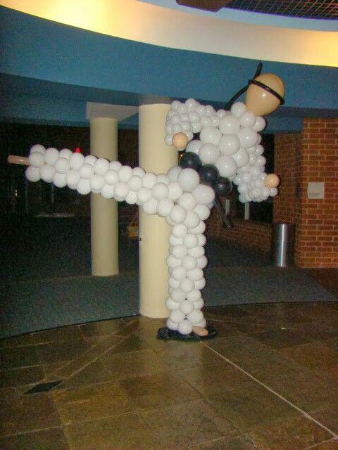 Karate Balloon Guy by www.atlantaevents.biz