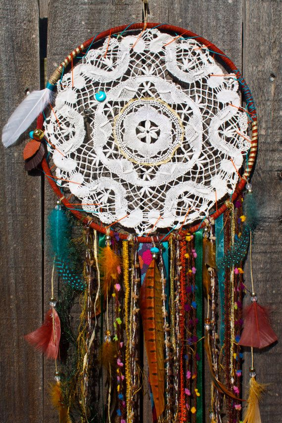 Dreamcatcher Natural Theme Large by DreamsByAndrea on Etsy