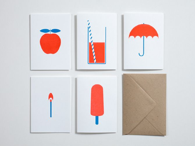 Simple and gorgeous illustrations. Printed on risograph.