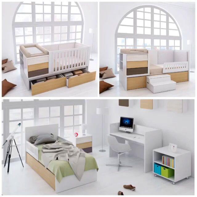 Design convertible crib for babies cuna convertible de - Alondra mobiliario infantil ...