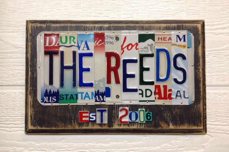 10th Anniversary Gift of Tin Custom Wedding Date License Plate Art Sign Any year Aluminum Gift Plaque Handmade High Quality by CMRdesignsforyou on Etsy https://www.etsy.com/listing/250530850/10th-anniversary-gift-of-tin-custom