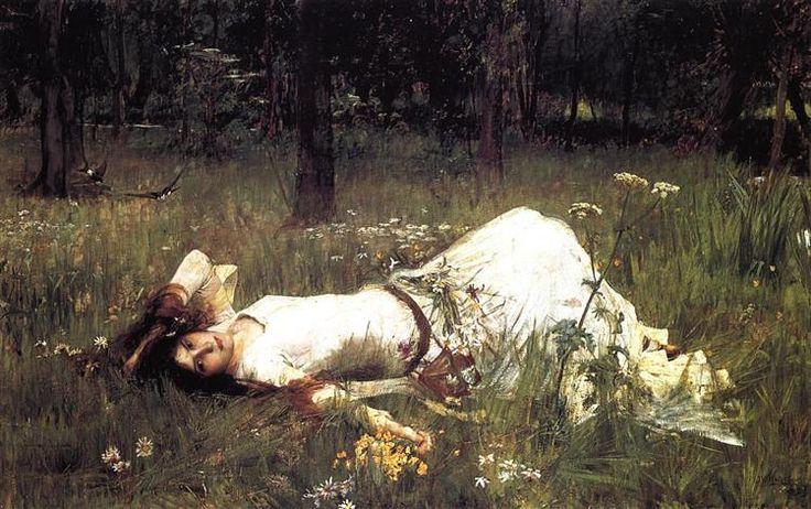 Ophelia - Waterhouse John William Date: 1889 Style: Romanticism Genre: literary painting