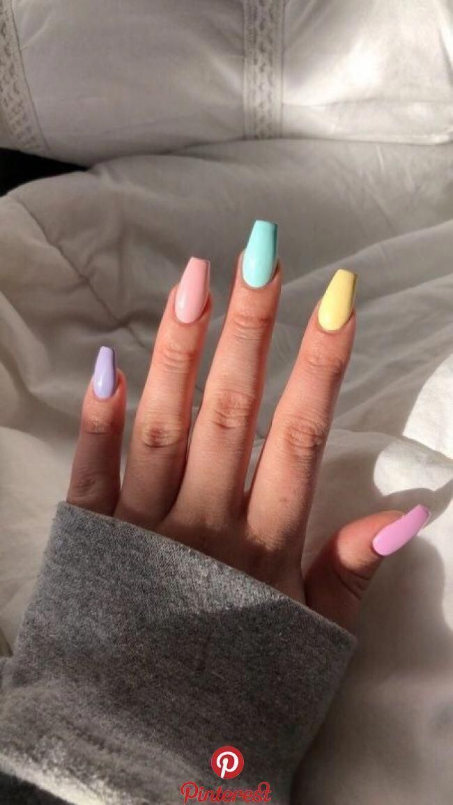 Pin On Spring Nails