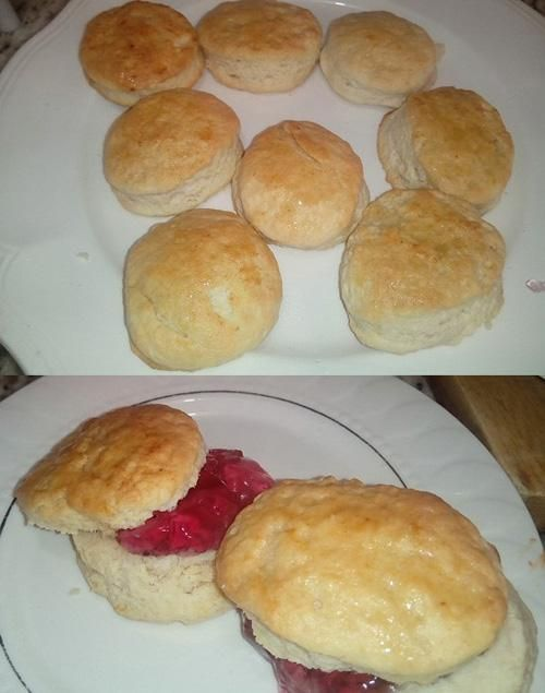 [Homemade] honey & butter biscuits from scratch with commercial rose petal marmalade