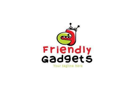 Friendly Gadgets Stock Logo Template by VecRas on Creative Market