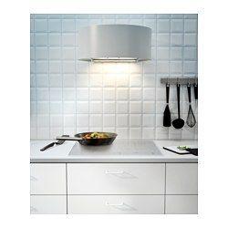 IKEA - UDDEN, Veggmontert ventilator, 5 års garanti. Les om vilkårene i garantiheftet.Du kan enkelt ta av og rengjøre fettfilteret i oppvaskmaskin. 1 fettfilter er inkludert.Kan brukes på to måter; tilkoplet en ventil eller med kullfilter for resirkulering av luften.Halogenpæren gir deg god belysning til matlagingen. 1 halogenpære er inkludert.Kontrollpanelet er plassert foran; enkelt å nå og bruke.