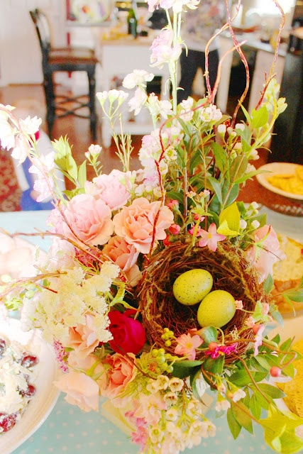 Bird Themed Bridal Shower Decor from Sassy Spratt - nice for a Springtime Wedding