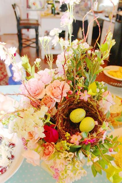 Bird Themed Bridal Shower Decor from Sassy Spratt - nice for a Springtime Wedding