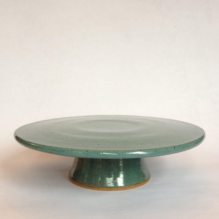 Teal Cake Stand #pottery #ceramics #stoneware #clay & 152 best Cake stands pedestal bowls platters images on Pinterest ...