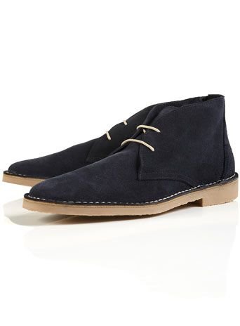 Topman Nevada Navy Blue Desert Boots £46 Item Code:97B63CNAV