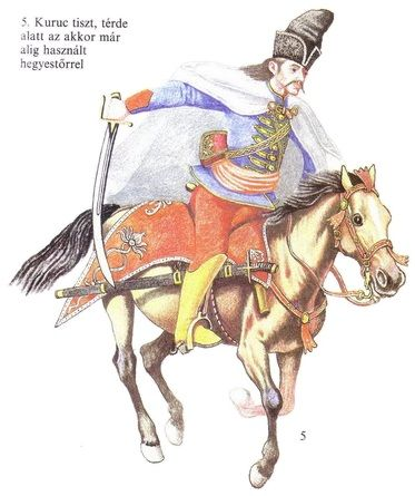 Kuruc officer, 1708