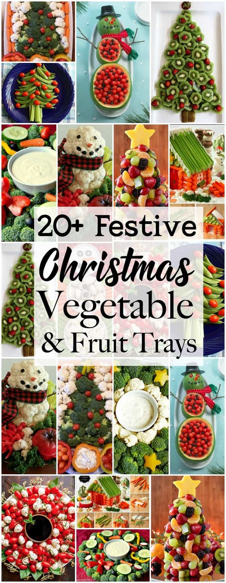 Holiday Vegetable Trays are festive, easy to make,…