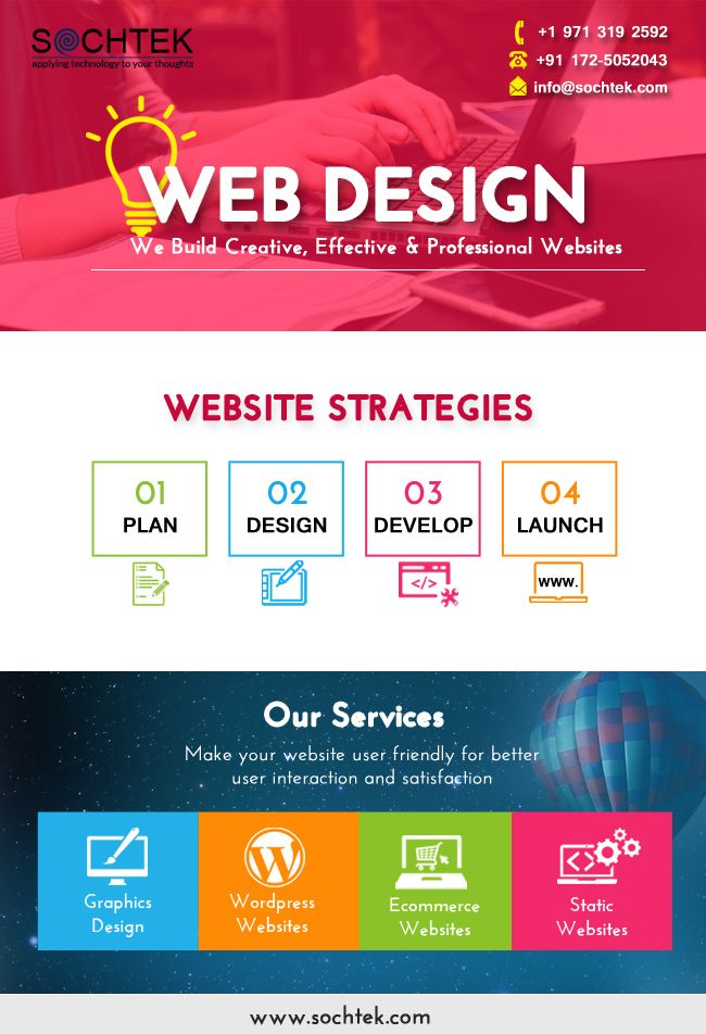 Sochtek India Professionally Design Your Website According To Your Requirements Web Development Chand Fun Website Design Website Design Company Website Design