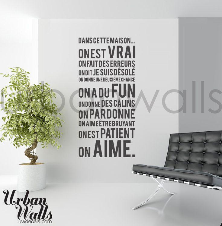 Français vinyle Wall Sticker autocollant Dans Cette par urbanwalls, $49.00