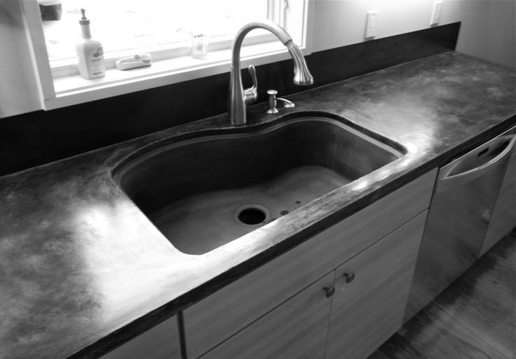 25 best concrete images on pinterest counter tops irons for Polished concrete kitchen countertops