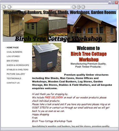 garden sheds gym workshop httpwwwbirchtreecottagecouk for more information or email