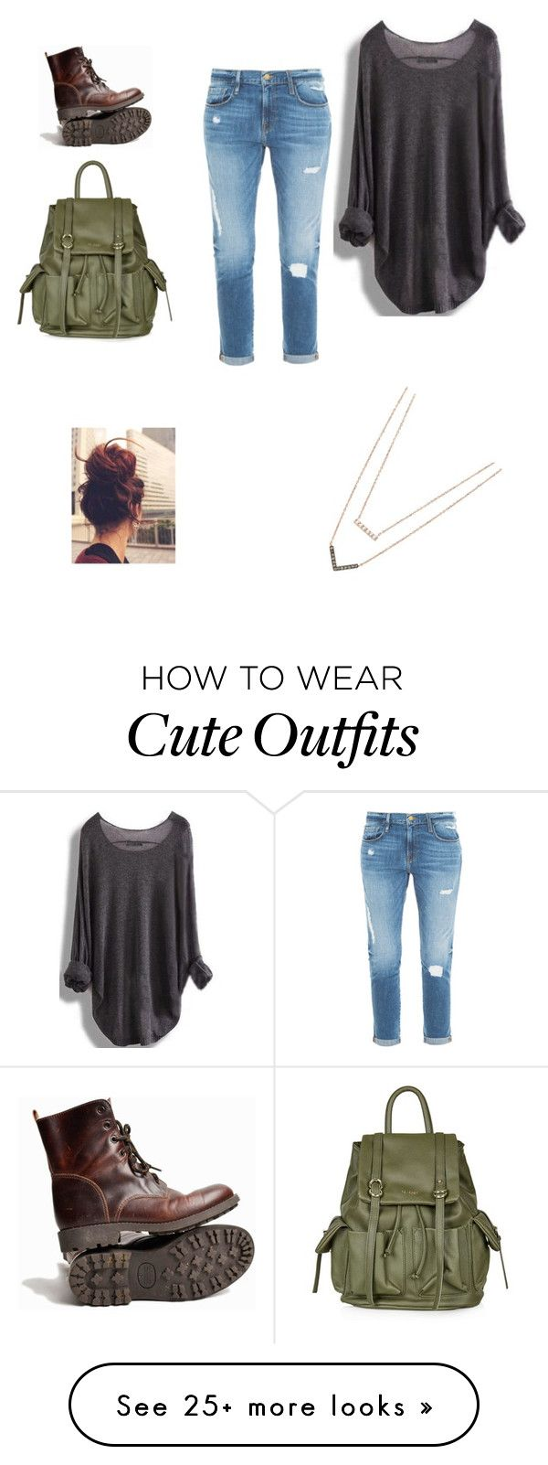 """""""Cute day outfit"""" by izabela19992011 on Polyvore featuring Topshop, Frame Denim and Michael Kors"""