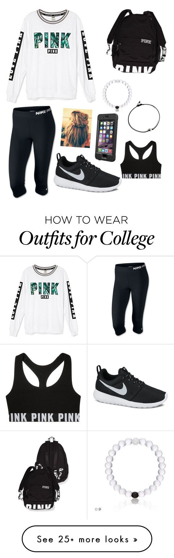 Untitled #51 by samhaines on Polyvore featuring Victoria's Secret, NIKE and LifeProof