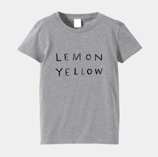 Tシャツ「レモンイエロー」(レディース・ミックスグレー)