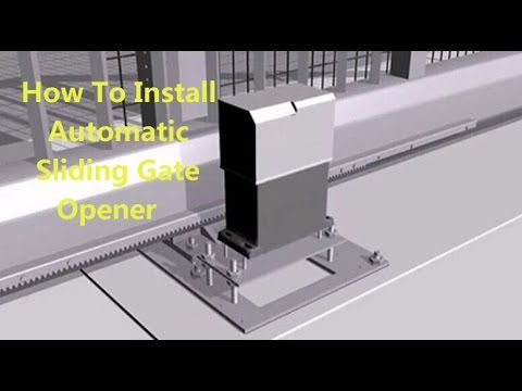 How  to install a automatic sliding gate opener, flash display with detail steps - YouTube
