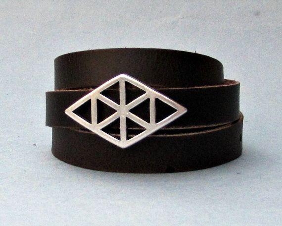 Wrap Mens Leather Bracelet Mens For Men Boyfriend Mens by GUSFREE
