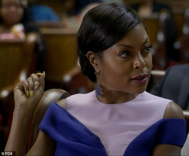 Church scolding: Cookie Lyon, played by Taraji P. Henson, feuded with her ex-husband Lucious while sitting next to each other at Church - Episode 5, Season 2  ❤❥*~✿Ophelia Ryan✿*~❥❤