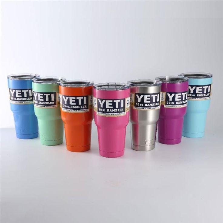 30 oz/20 oz YETI Rambler Tumbler Cooler Cup Vacuum Insulated