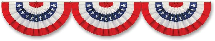 Jointed Patriotic Bunting Cutout (Case of 12)